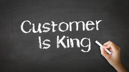 Customer is king Chalk Illustration