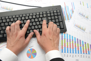 ビジネスシーン―タイピング