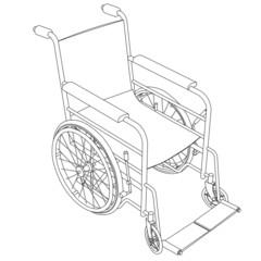 wheelchair outline vector