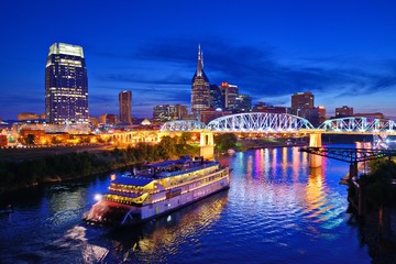 Nashville at the Cumberland River