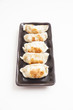 Japanese Dumplings with white background