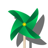 Green Paper Windmill