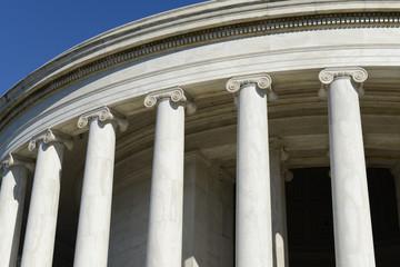 Jefferson Memorial Pillars in Washington DC