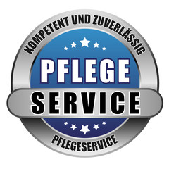 5 Star Button blau PFLEGESERVICE KUZ PS