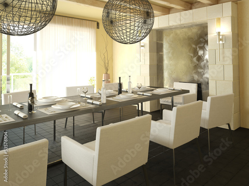 Modern Dining Room Interior