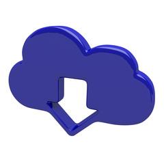 Cloud computing technology icon emble