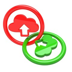Cloud computing technology icon emblem
