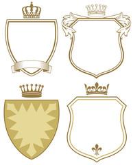 Wappen mit Schild und Krone