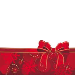 weihnachtlicher Hintergrund mit Schleife