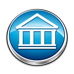 Blue stock exchange icon button.
