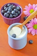 yogurt with blueberry