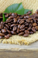macro shot of coffee beans on natural background