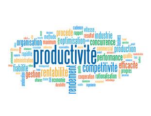 Nuage de Tags PRODUCTIVITE (rendement efficacité compétitivité)