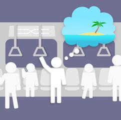 Métro Boulot Dodo - Envie de vacances dans le métro