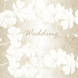 Elegant wedding background with flowers for design