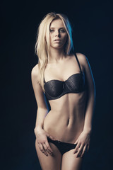 beautiful sexy blond girl studio shot