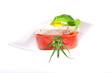 Mozzarella auf Tomate