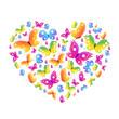 heart,,butterflies vector