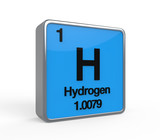 Hydrogen Element Periodic Table poster