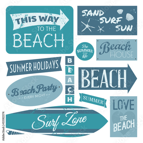 Beach Labels Collection