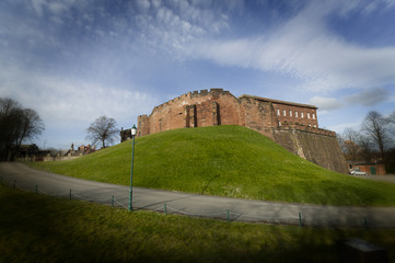 Chester Castle built from sandstone by William the Conqueror