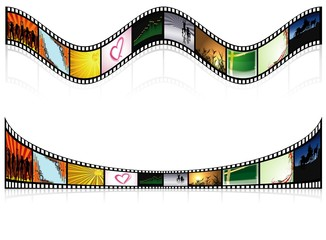 Two Colored Filmstrip
