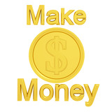 make money isolated on white