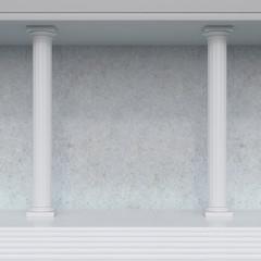 interior with columns