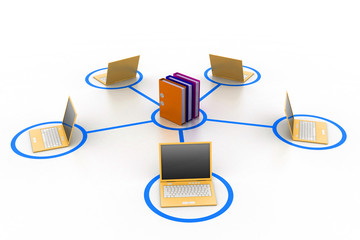 computer and documents network