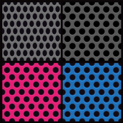 Set of dot pattern backgrounds