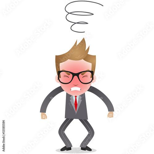 Businessman, furious, angry, upset, mad