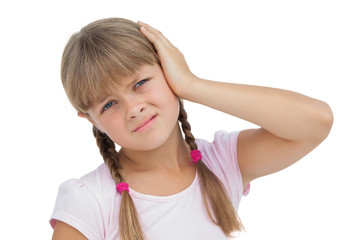 Little girl suffering from earache