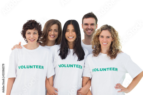 Group of people wearing volunteer tshirt