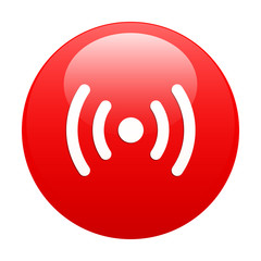 bouton internet radio wifi red