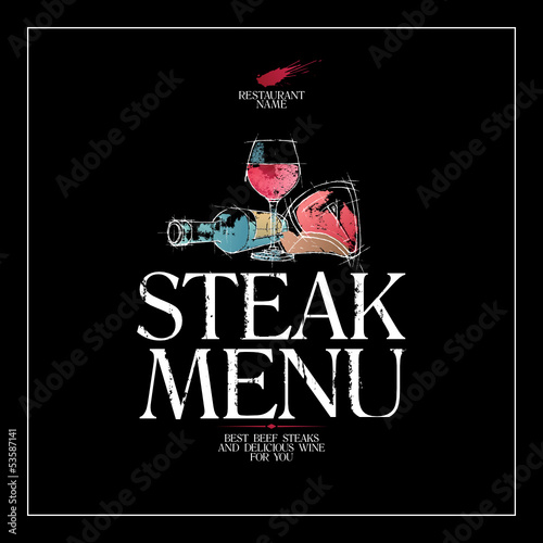 Steak Menu Card Design template