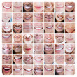 Collage of various smiles