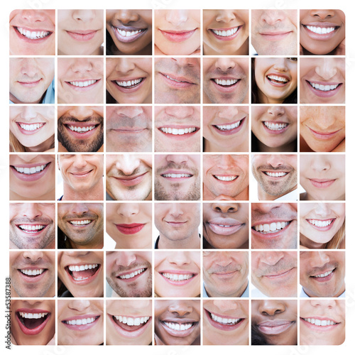 Poster Collage of various smiles