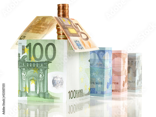 canvas print picture Geld - Haus