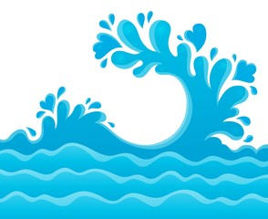 Water splash theme image 6