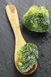 Gefrorene Brokkoliröschen