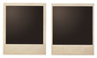 canvas print picture - Vintage instant photo polaroid frames isolated