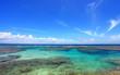 南国沖縄 久高島のきれいな海と夏空