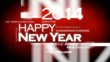 Happy New Year 2014 international language tag cloud animation