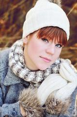 teen girl in fall