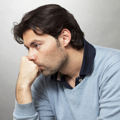 Enttäuschter Mann