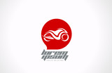 Logo motorcycle abstract. Motorbike vector design template.