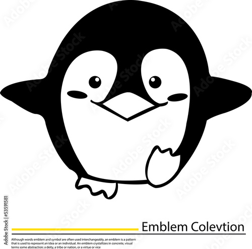 Vector illustration of Penguin cartoon,Penguin symbol