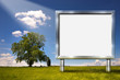 Big Chrome Billboard in the Countryside