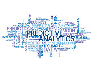 """PREDICTIVE ANALYTICS"" Tag Cloud (data statistics business risk)"