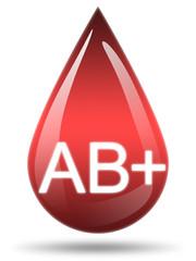 Ilustração - Tipo de sangue AB+